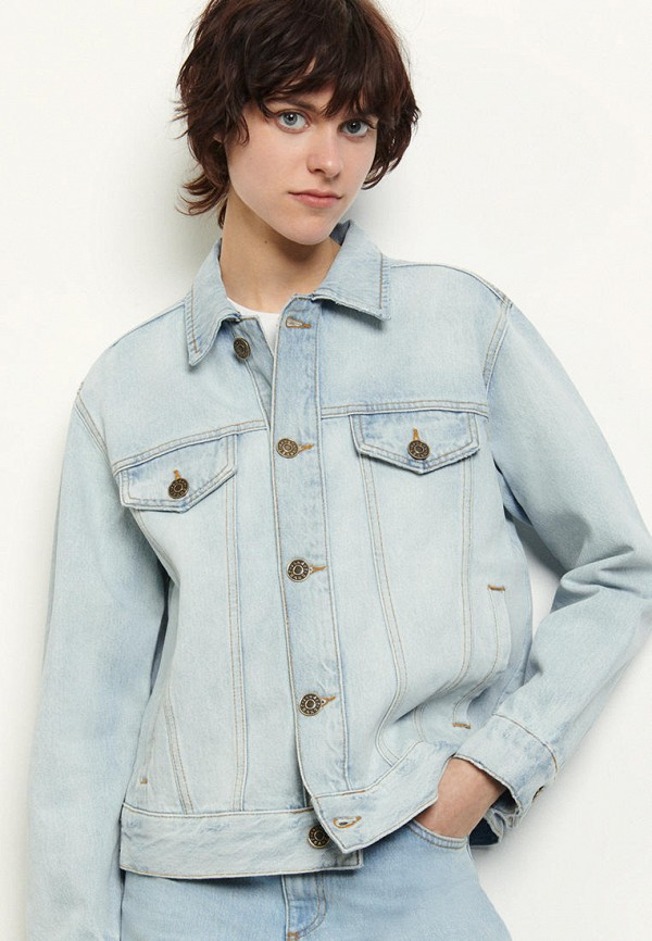 Sandro | голубой Женская голубая джинсовая куртка Sandro | Clouty