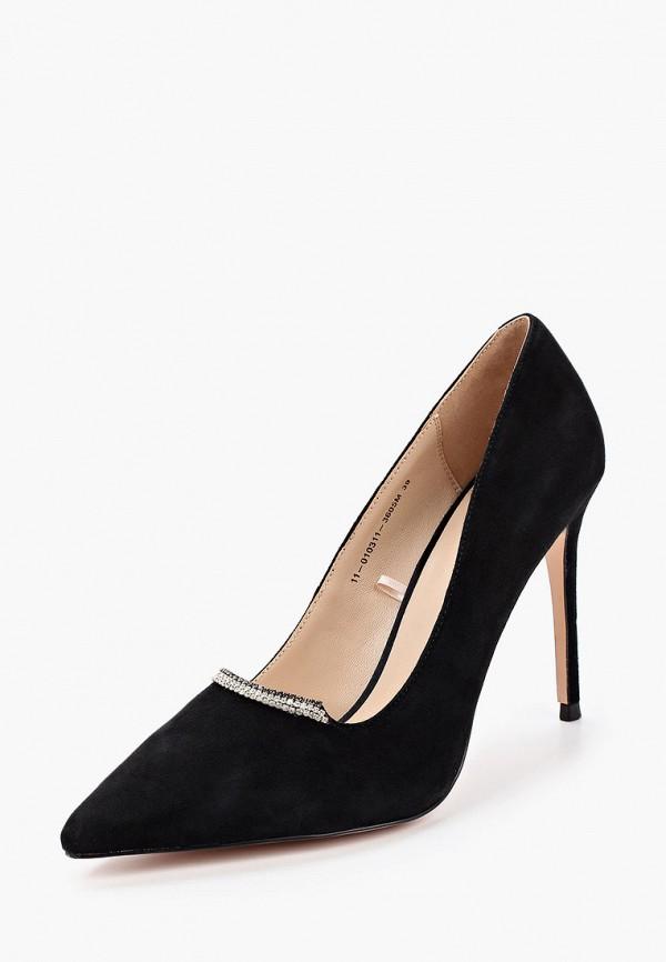Mascotte | черный Женские черные туфли Mascotte резина | Clouty