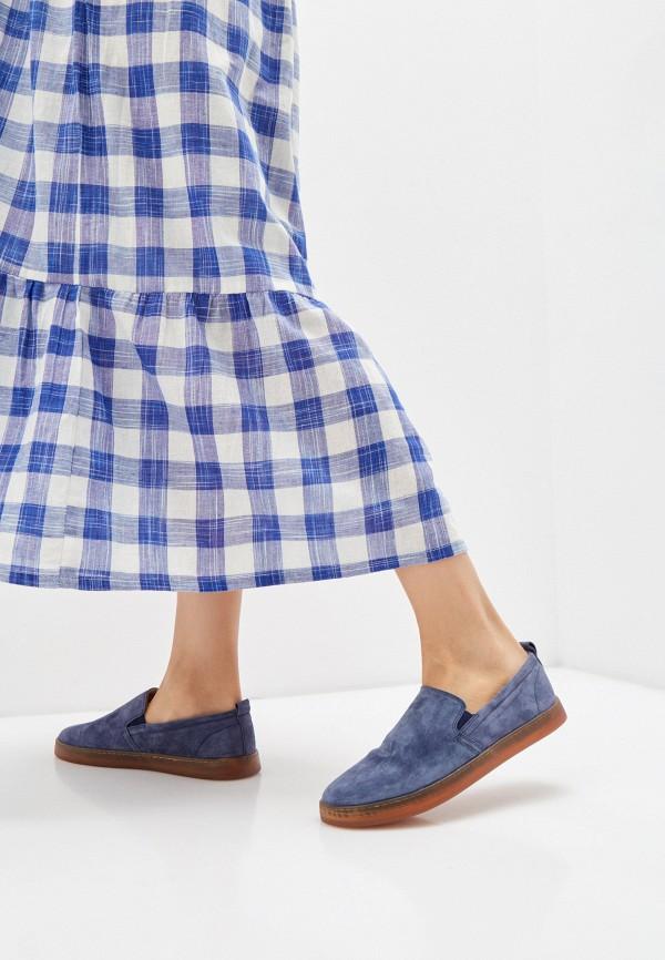 Mascotte   синий Женские синие слипоны Mascotte резина   Clouty