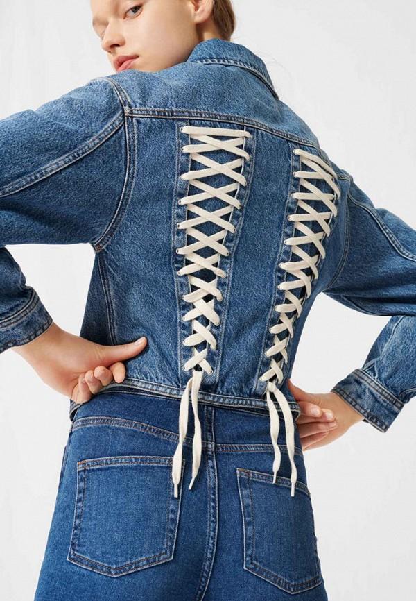 Maje | синий Женская синяя джинсовая куртка Maje | Clouty