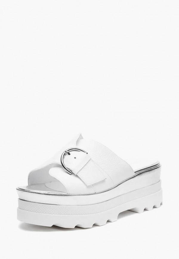 Basconi | белый Женские летние белые сабо Basconi термополиуретан | Clouty