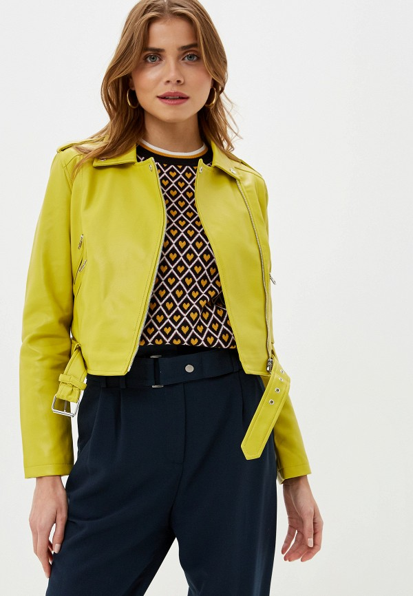 Befree | желтый Женская желтая кожаная куртка Befree | Clouty