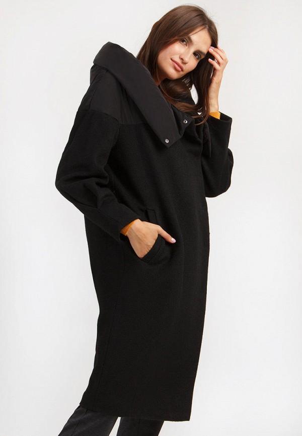 Finn Flare | черный Женское черное пальто Finn Flare | Clouty