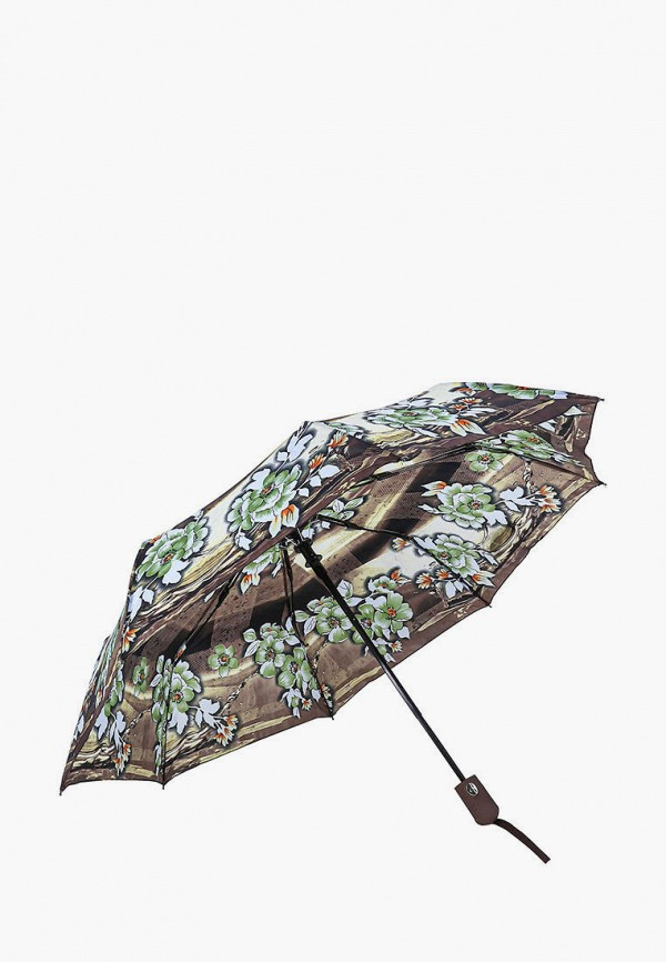 Frei Regen | Женский коричневый складной зонт Frei Regen | Clouty