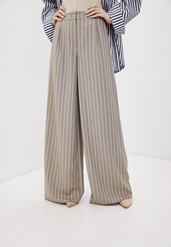Tantino | коричневый Женские коричневые брюки Tantino | Clouty