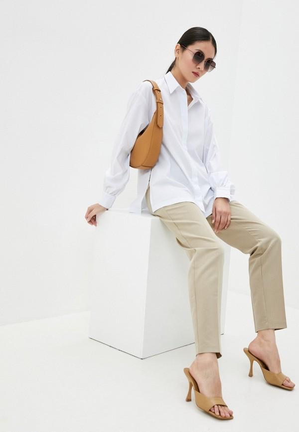 Tantino | бежевый Женские бежевые брюки Tantino | Clouty