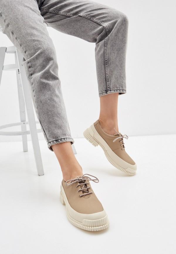 Camper | бежевый Женские бежевые ботинки Camper полиуретан | Clouty