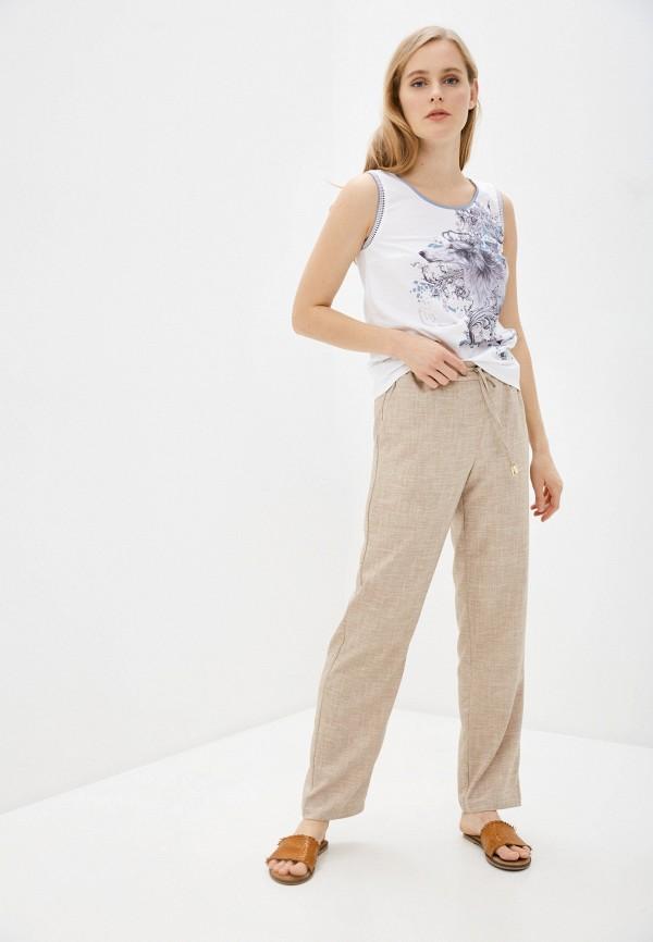 Vittoria Vicci | бежевый Женские летние бежевые брюки Vittoria Vicci | Clouty