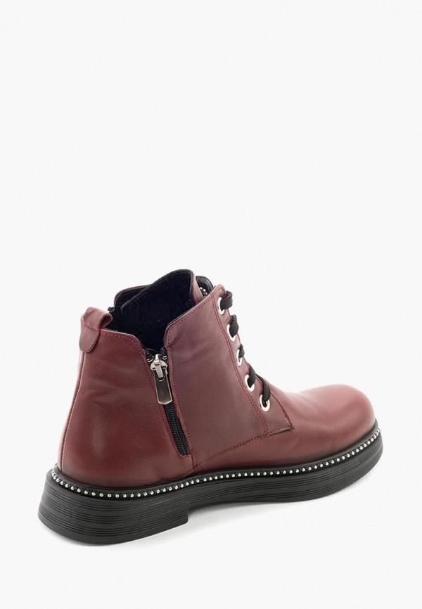 Clovis | бордовый Женские бордовые ботинки Clovis термопластиковая резина | Clouty