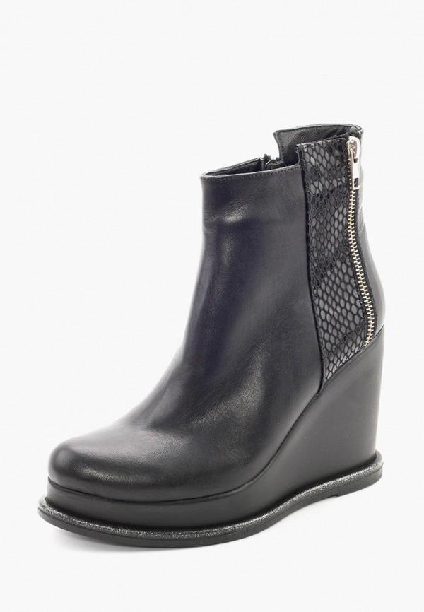 Clovis | черный Черные ботильоны Clovis полиуретан | Clouty