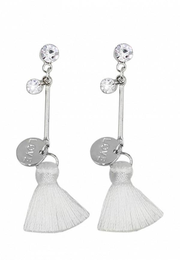 Taya | белый, серебряный Женские серьги Taya | Clouty