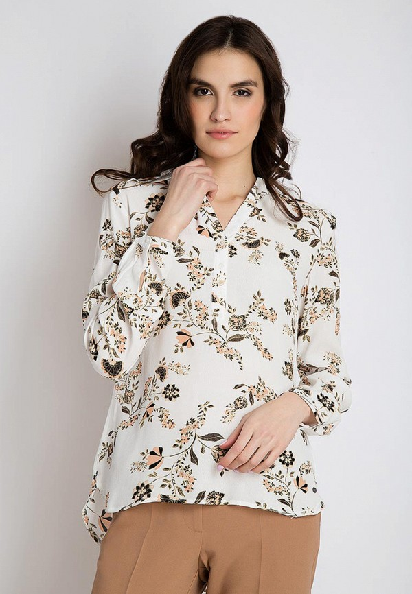 Finn Flare | белый Женская белая блуза Finn Flare | Clouty