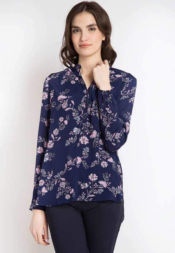Finn Flare | синий Женская синяя блуза Finn Flare | Clouty