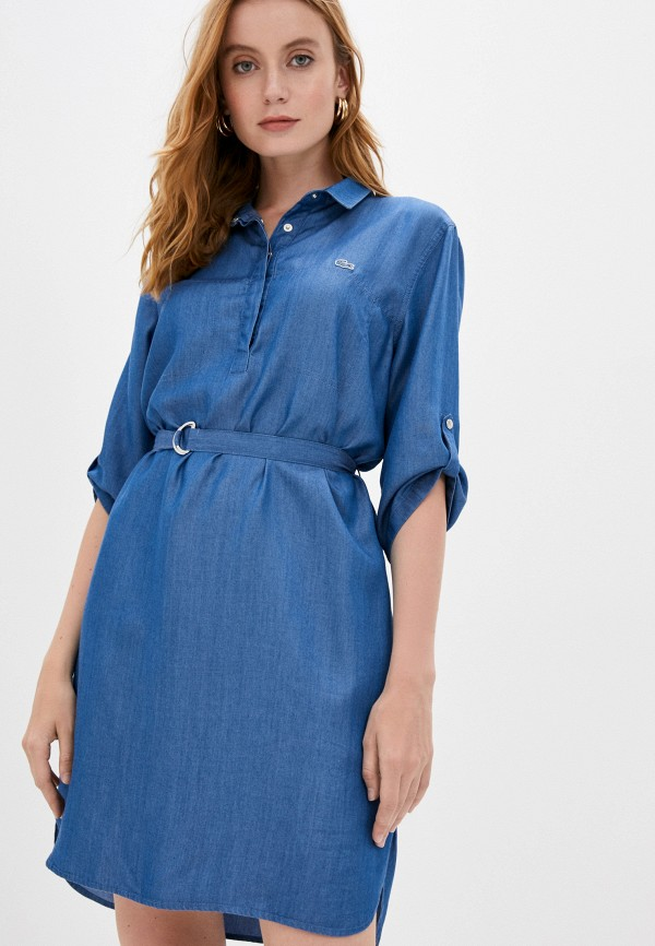 Lacoste | синий Синее джинсовое платье Lacoste | Clouty