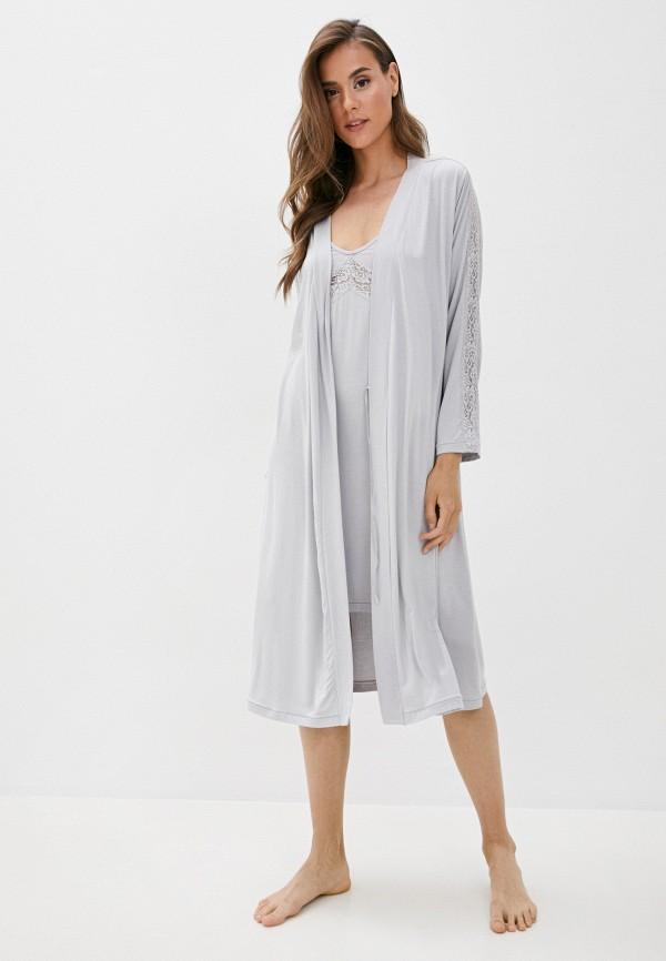 Luisa Moretti | серый Халат и сорочка ночная Luisa Moretti | Clouty