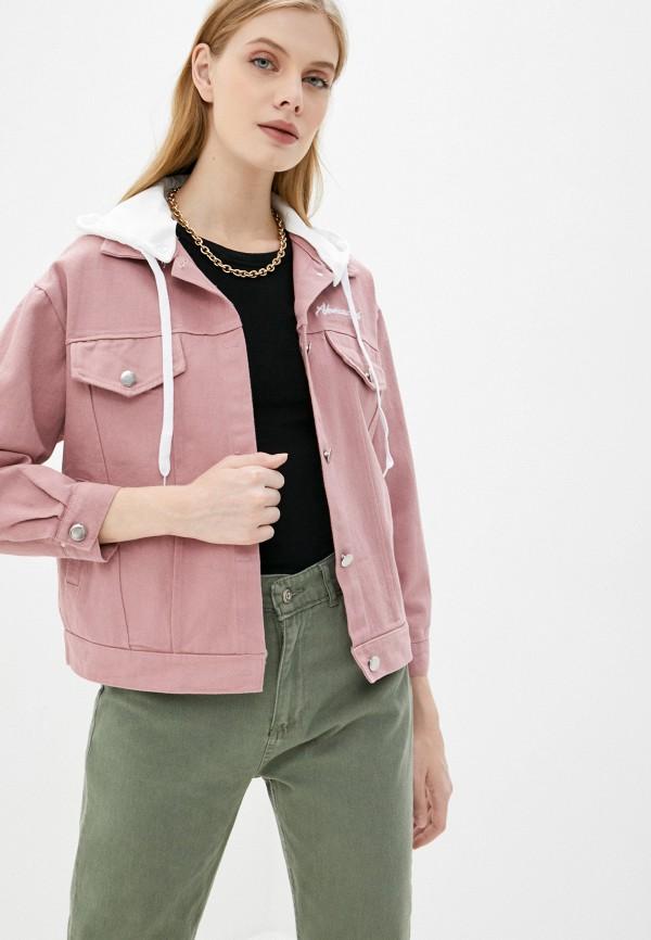 Rosedena | розовый Женская летняя розовая джинсовая куртка Rosedena | Clouty