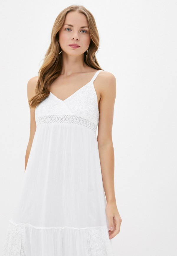 Just Beauty | белый Летнее белое пляжное платье Just Beauty | Clouty