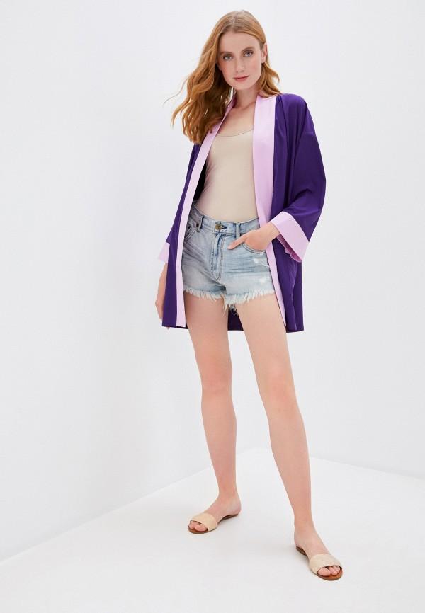 Bodypoetry   фиолетовый Женское фиолетовое кимоно Bodypoetry   Clouty