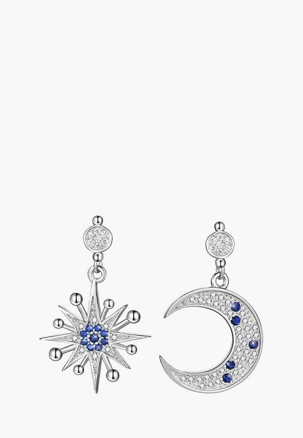 Ice&High Collection | серебряный, синий Женские серьги Ice&High Collection | Clouty