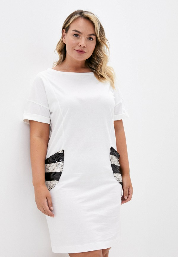 KVI | белый Летнее белое пляжное платье KVI | Clouty