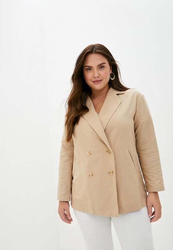 Adele Fashion   Женский летний бежевый жакет Adele Fashion   Clouty