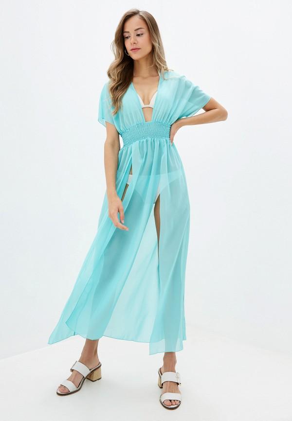 Donatello Viorano | бирюзовый Летнее бирюзовое пляжное платье Donatello Viorano | Clouty