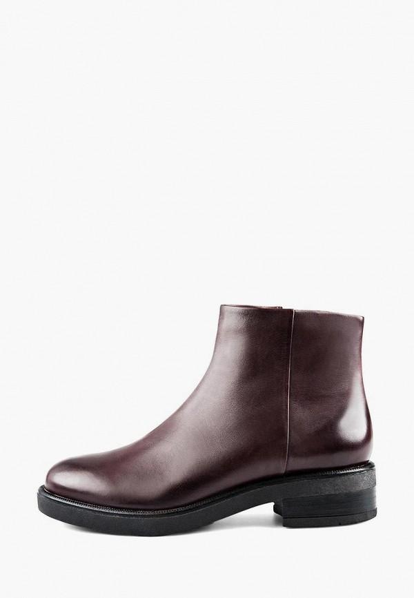 Эконика | бордовый Женские бордовые ботинки Эконика резина | Clouty