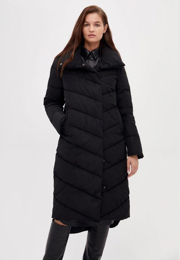 Lime | черный Женская зимняя черная утепленная куртка Lime | Clouty