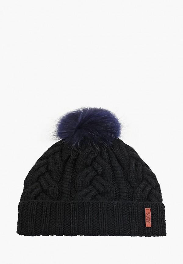 Sava Mari | черный Женская зимняя черная шапка Sava Mari | Clouty
