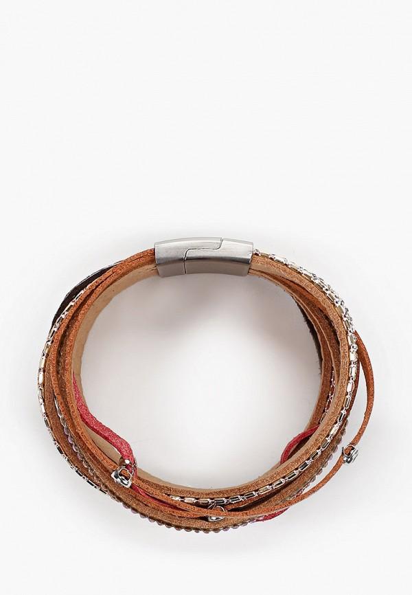 Vitacci   коричневый, красный, серебряный Женский браслет Vitacci   Clouty