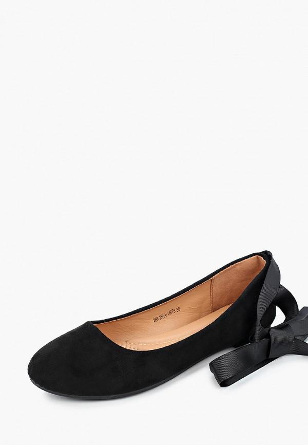 Instreet | черный Женские черные балетки Instreet ПВХ | Clouty