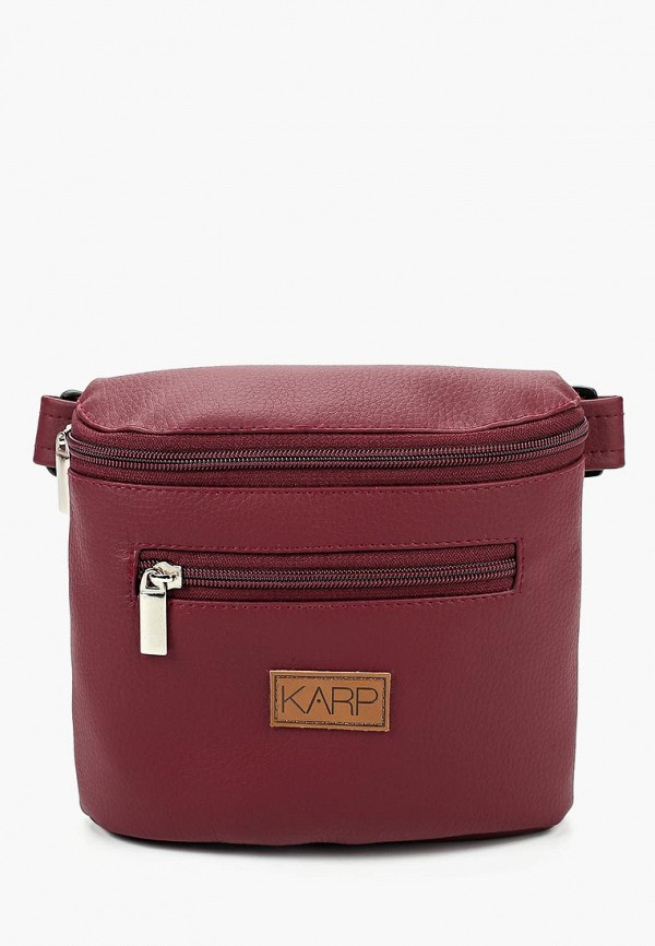 Karp | бордовый Женская бордовая поясная сумка Karp | Clouty