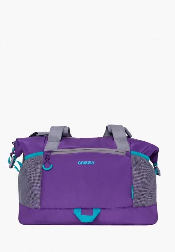 Grizzly | фиолетовый Женская фиолетовая спортивная сумка Grizzly | Clouty