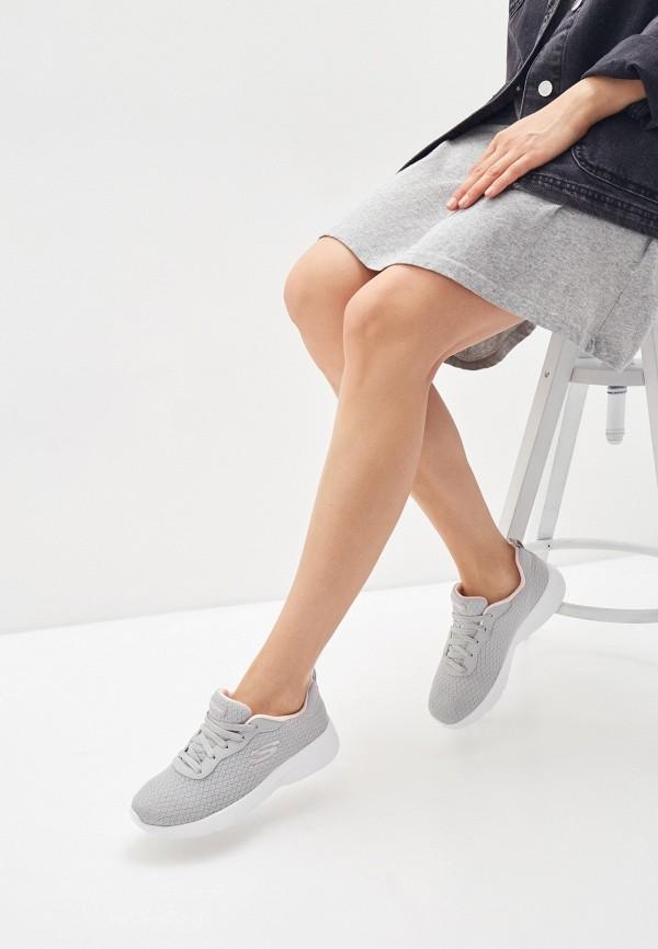 Skechers | серый Женские серые кроссовки Skechers этиленвинилацетат | Clouty