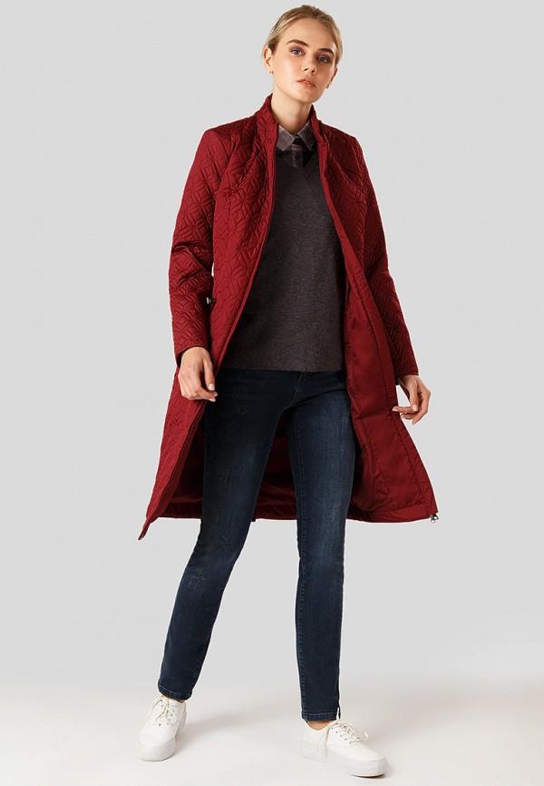 Finn Flare   бордовый Женская бордовая утепленная куртка Finn Flare   Clouty