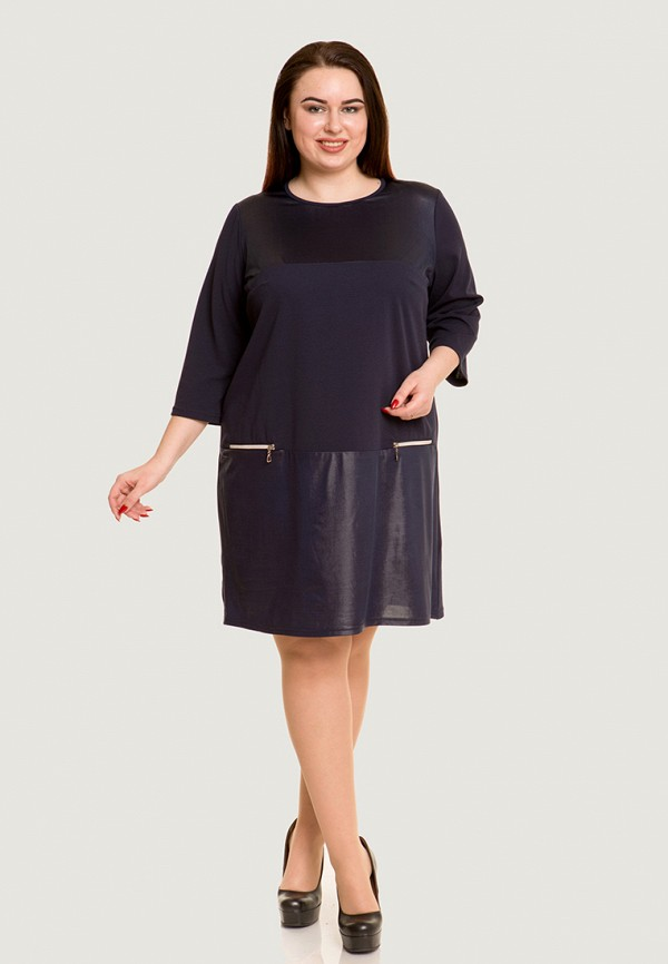Luxury Plus | синий Синее платье Luxury Plus | Clouty