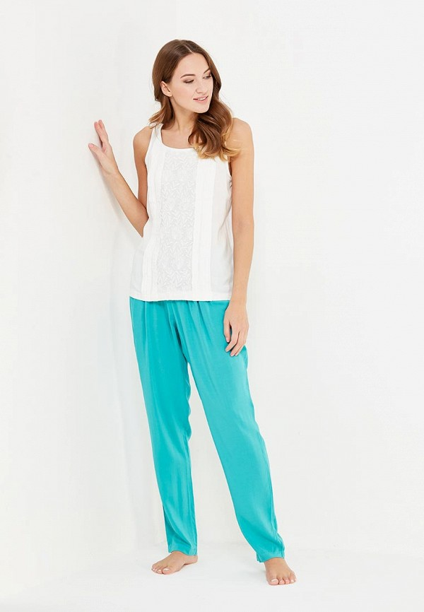 Relax Mode | белый, бирюзовый Женский домашний костюм Relax Mode | Clouty