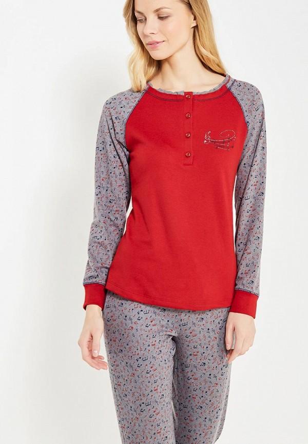 Relax Mode | бордовый, серый Женская пижама Relax Mode | Clouty