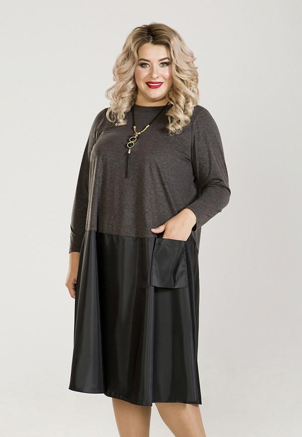 Luxury Plus | серый Женское серое платье Luxury Plus | Clouty