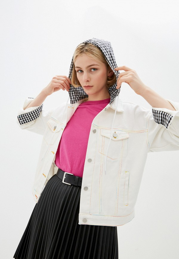 ILD | белый Женская белая джинсовая куртка ILD | Clouty