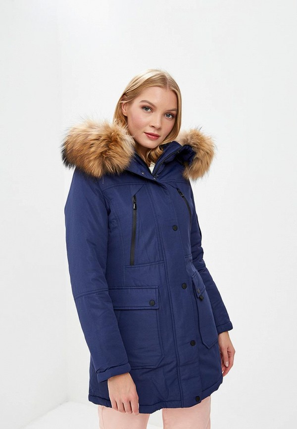 Snowimage   синий Женская синяя утепленная куртка Snowimage   Clouty