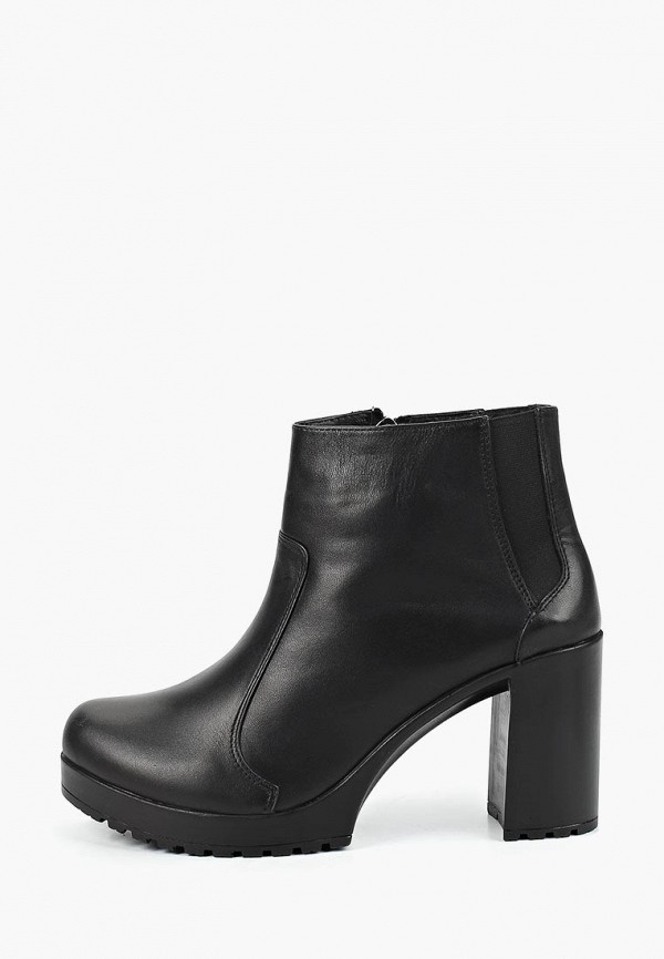 Clovis | черный Черные ботильоны Clovis термополиуретан | Clouty