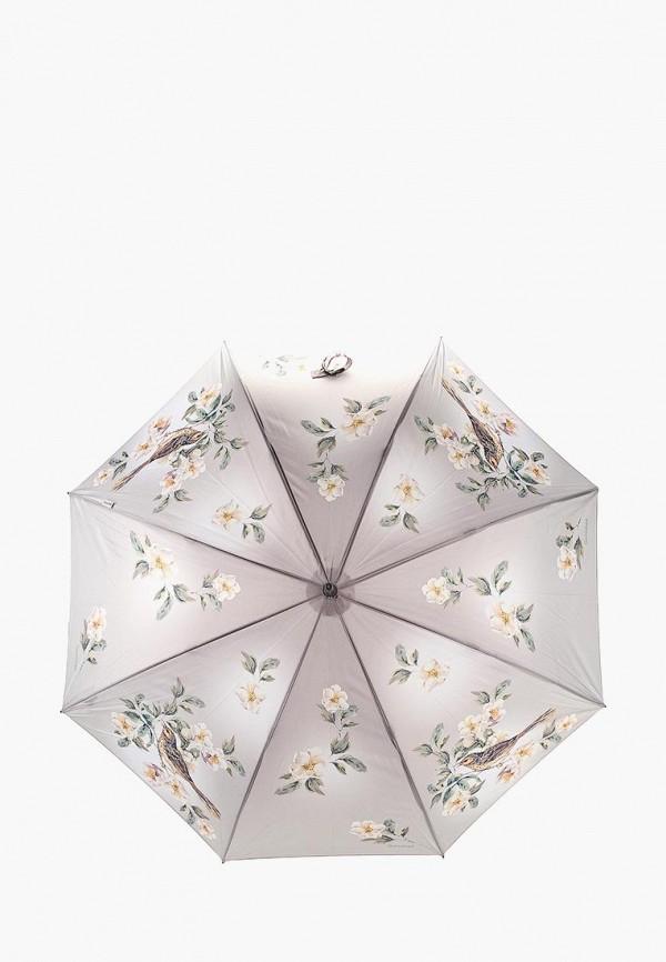 Goroshek | Женский серый зонт трость Goroshek | Clouty
