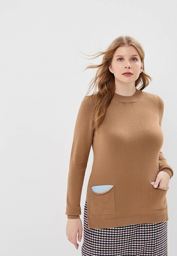 MaryTes | Женский коричневый джемпер MaryTes | Clouty