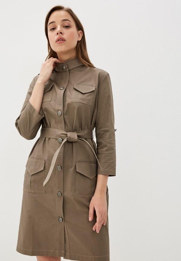 Ducky Style | коричневый Женское коричневое платье Ducky Style | Clouty