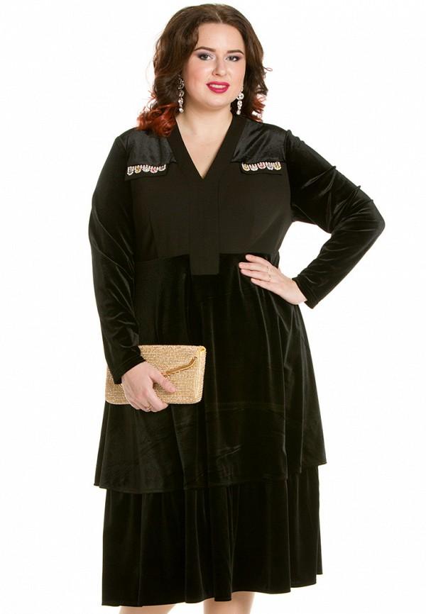 Luxury Plus | черный Женское черное платье Luxury Plus | Clouty
