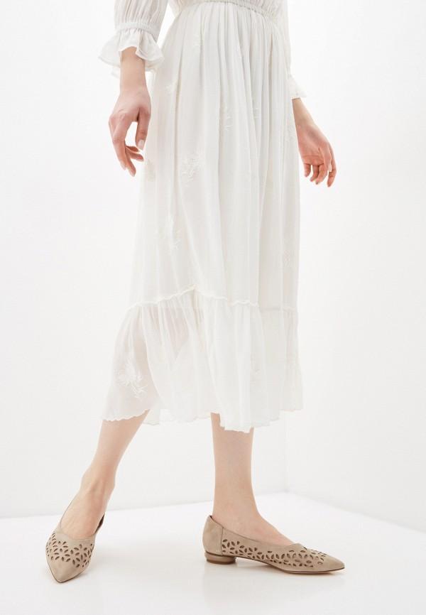 Thomas Munz | бежевый Женские бежевые балетки Thomas Munz резина | Clouty
