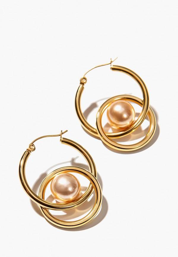 Exclaim | золотой Женские золотые серьги Exclaim | Clouty
