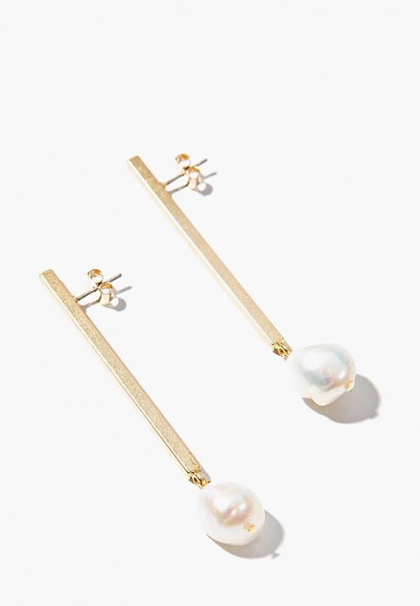 Exclaim | белый, золотой Женские серьги Exclaim | Clouty