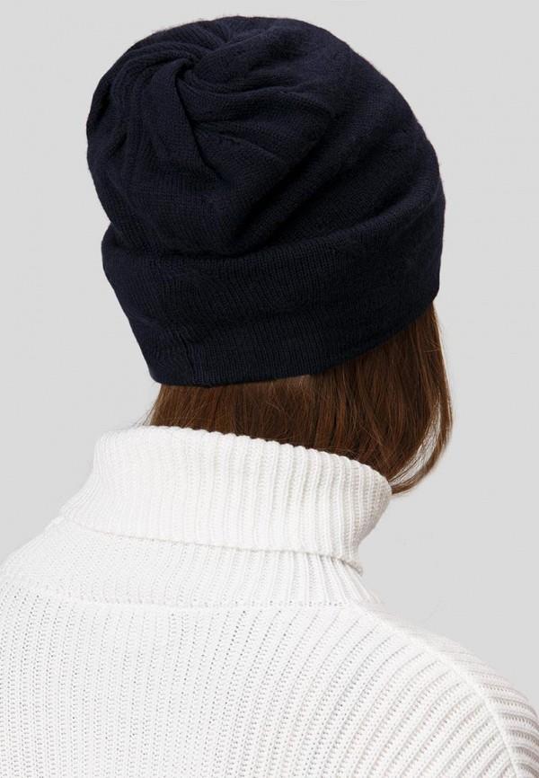 Finn Flare | синий Женская зимняя синяя шапка Finn Flare | Clouty